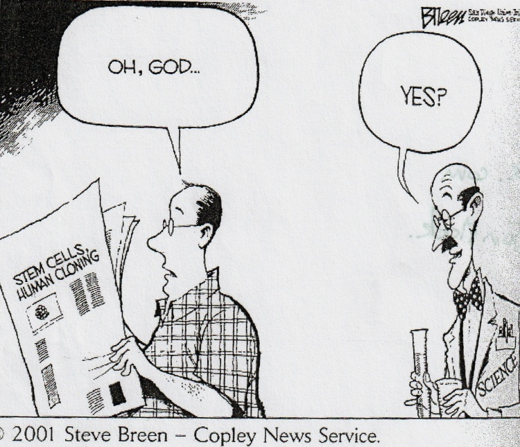 dessin humoristique clonage 2001