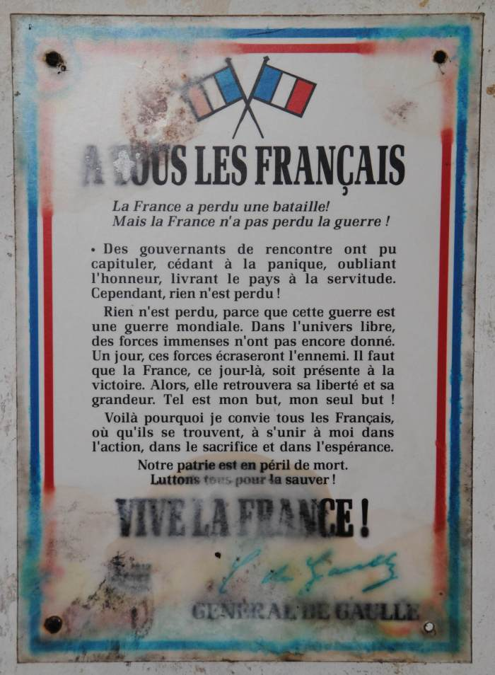 affichette Vive la France