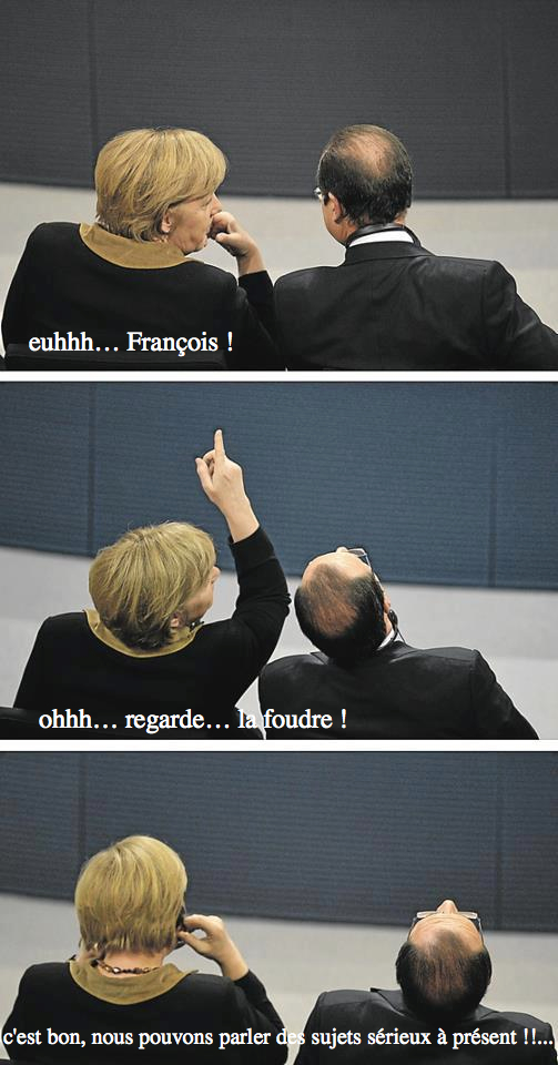 montage Merkel Hollande qui le chef