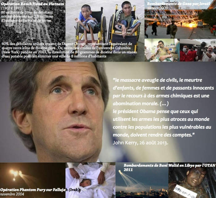 Montage bombardements USA Kerry