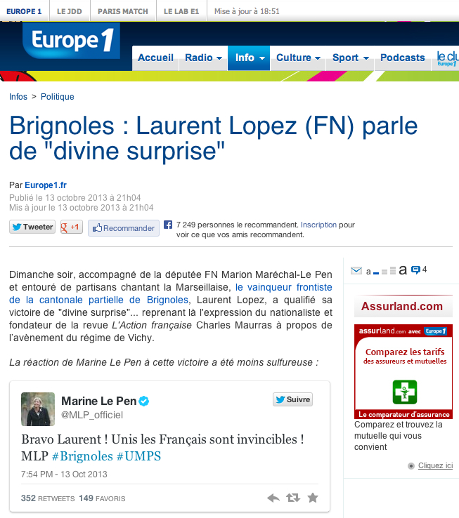 Laurent Lopez divine surprise - Europe 1