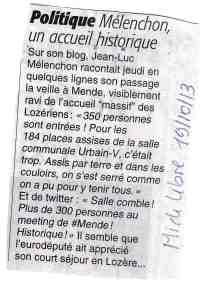 Mélenchon meeting Midi Libre 19-10-2013