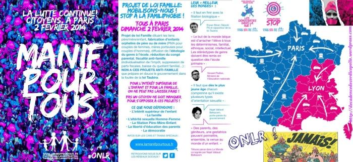 Manif pour tous Lyon 02-02-2014