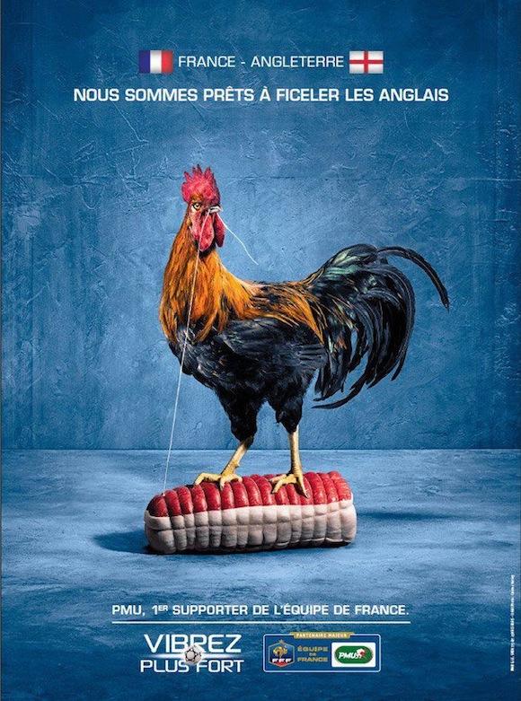 coq-france-rosbeef-angleterre-pmu-publicite-euro-2012