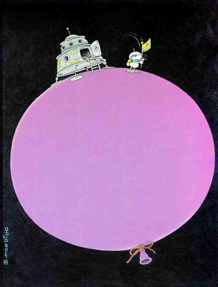 Mordillo Drapeau ballon 1978