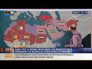 Manifestations hostiles à Charlie Hebdo