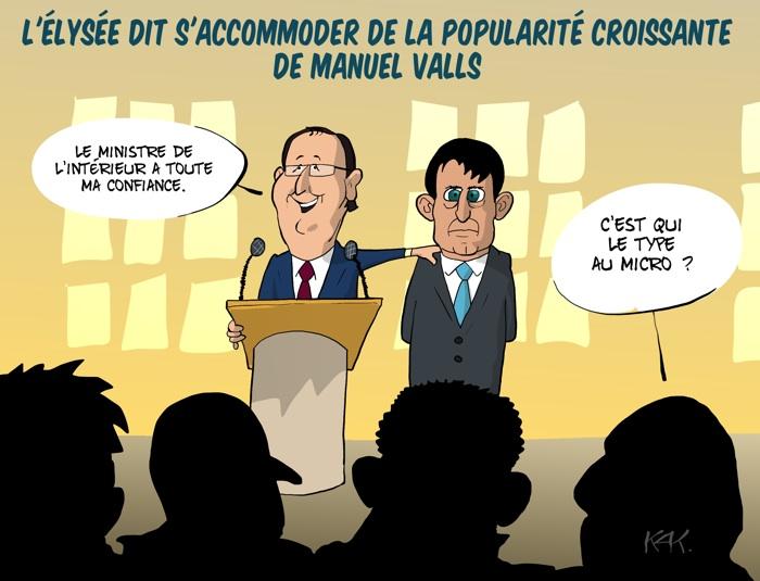 KAK_Valls_Hollande_popularite