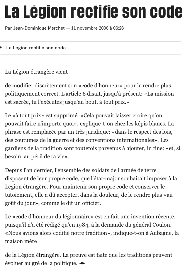 article Libé 11-11-2000