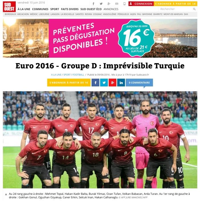 Euro 2016 Turqui Sud-Ouest 10-06-2016