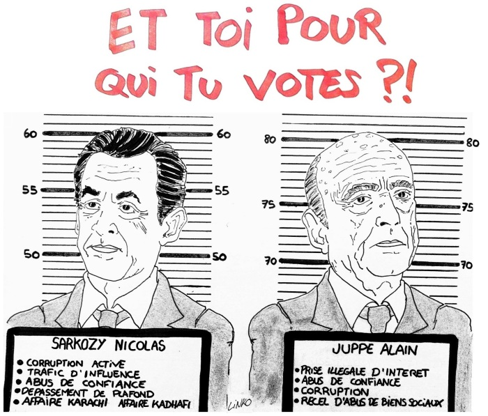 linko_dessin_wanted_sarkozy_juppe_vote_casier_judiciaire