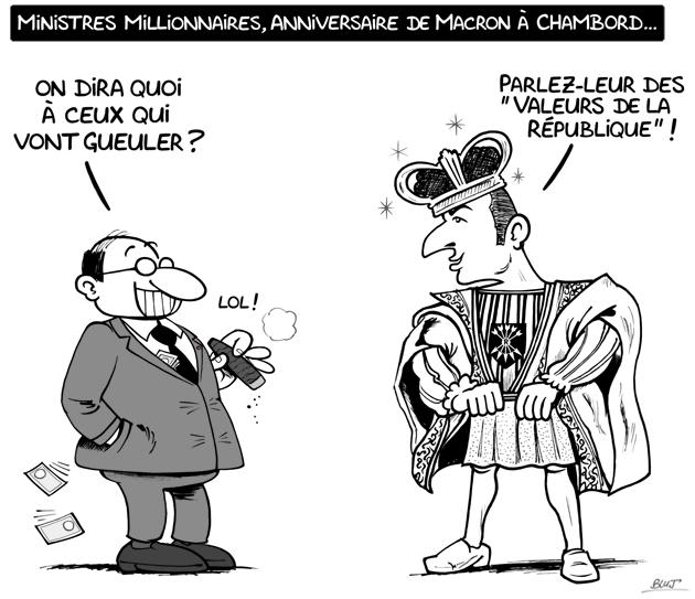 Bluj_dessin_Anniversaire_Macron-Chambord-dessin