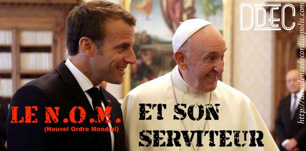 Montage pape François Macron