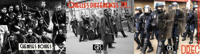 montage fascistes vs CRS