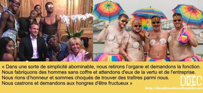 Montage Macron Gay Pride Cologne